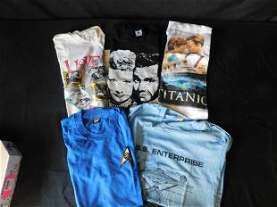 Lot of 5 Vintage T-Shirts - Star Trek, I Love Lucy,