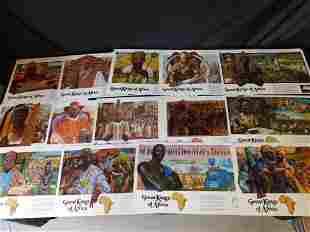 "Lot of 12 Vintage Budweiser ""Great Kings of Africa"""