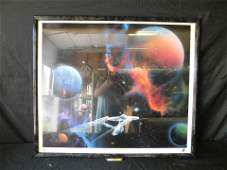 """Star Trek """"Second Star to the Right"""" Framed Lithograph"""