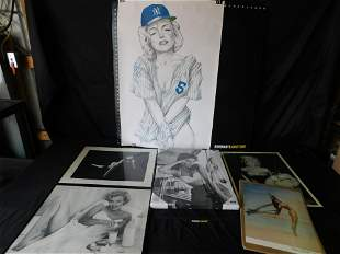 Lot of Art including Marilyn and Bettie Page