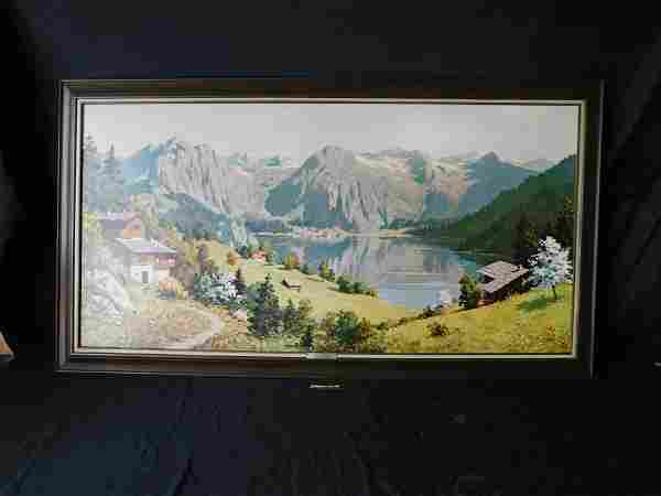 Spring Lake by Amadeo Boroni Framed Print on Board