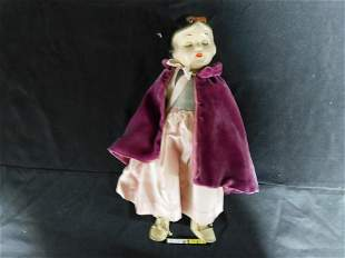 Vintage Snow White Composition Doll with Sleepy Eyes