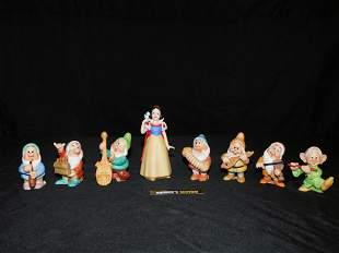 Snow White and The Seven Dwarfs Ceramic Figurine Set
