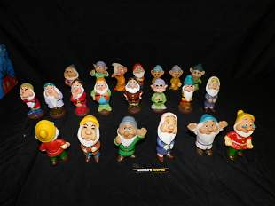 Lot of 21 Disney Plastic Dwarfs Figurines