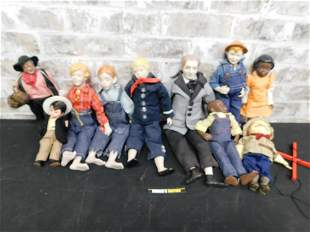 Mixed Lot of Dolls including Marionette Puppet of Teddy