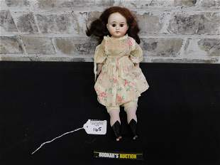 Antique Porcelain Doll with Painted Shoes