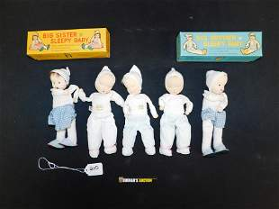 Vintage Shackman 1957-58 Doll Lot of 5 - Sleepy Baby