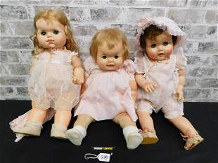 Lot of 3 Hard Plastic Dolls including Vogue Doll and