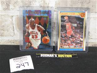 Lot of 2 Michael Jordan Cards '88 Fleer and '96 Fleer