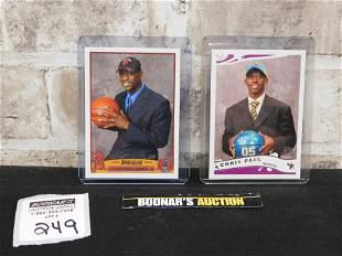 Chris Paul and Dwayne Wade Rookie Cards