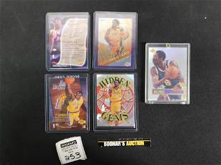 Lot of 5 Kobe Bryant Cards including Rookie
