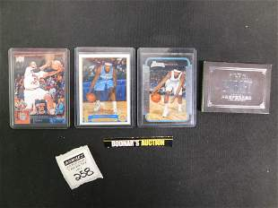 Lot of 4 Basketball RC Cards including Carmelo and