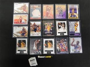 Lot of 16 LeBron James and Kobe Bryant Basketball Cards