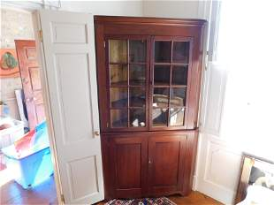 Two Piece Corner Cabinet