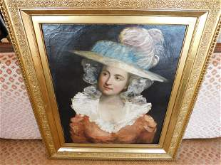 Oil on Canvas Portrait of Woman - Northcote