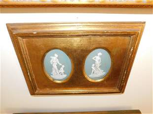 Pair of Framed Limoges Plaques