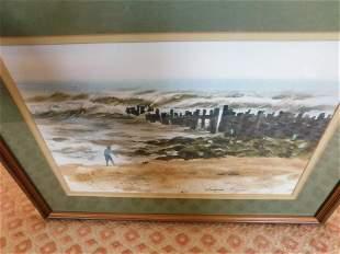 Watercolor Beach Scene - Thorston