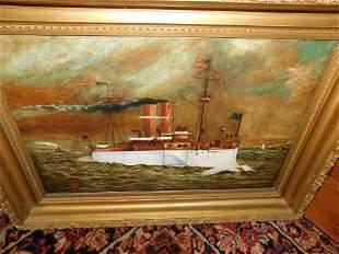 Oil on Board US Steamboat