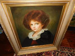 Print on Canvas Portrait of a Young Girl