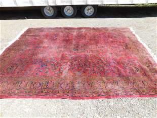 Semi Antique Sarouk Hand Made Room Size Rug