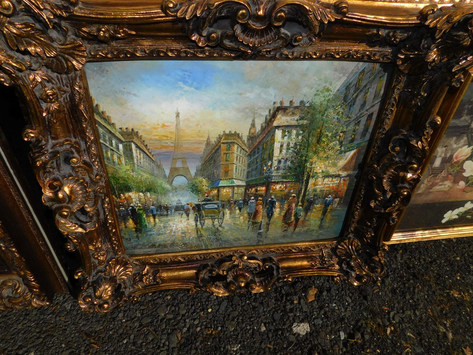 Contemporary Oil on Canvas of French Street Scene