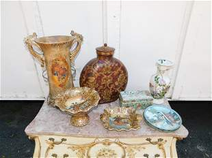Lot of Decorative Items including Oriental Vases and