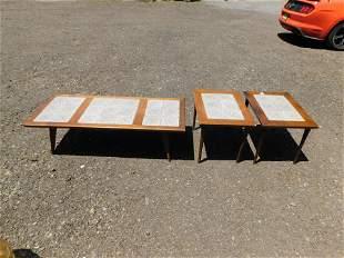 Set of 3 Danish Mid Century Modern Coffee Table Set