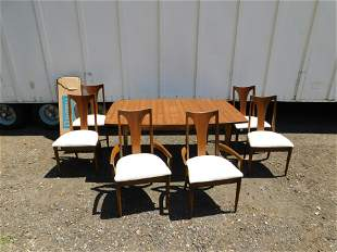 Mid Century Modern Dining Room Table with Set of 6