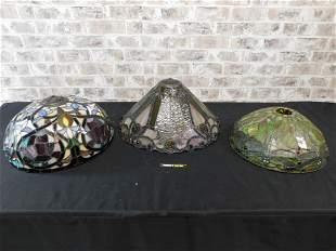 Lot of 3 Tiffany Style Lamp Shades