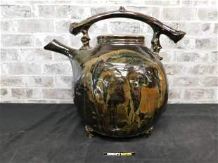 Decorative Art Pottery Oversized Teapot