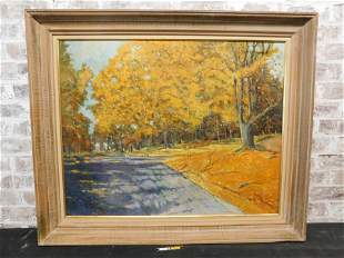 Oil on Canvas of Autumn Scene