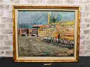 Framed Katz Oil on Board