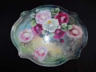 Limoges Hand Painted Serving Platter