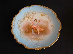 LS & S Limoges France Hand Painted Plate