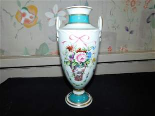 Minton Hand Painted Double Handled Vase