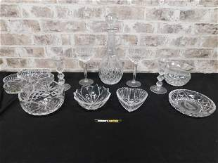 Lot of Crystal and Waterford Crystal