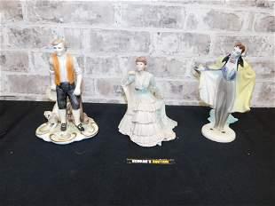 Lot of 3 Porcelain Figurines including Coalport