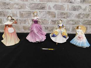 Lot of 4 Royal Doulton Ladies Figurines