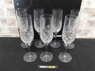 Lot of 7 Royal Doulton Crystal Champagnes