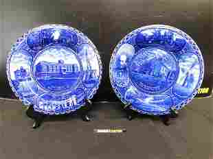 Lot of 2 Rowland & Marsellus Flow Blue Plates