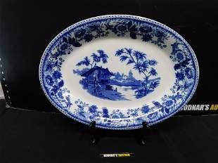 Flow Blue Serving Platter
