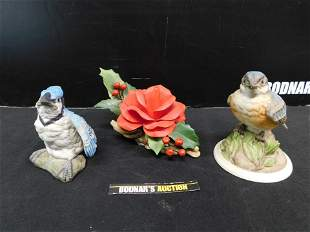 Group Lot of 3 Pieces of Boehm Porcelain Figurines