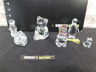 Lot of Crystal Figurines - Some As-Is