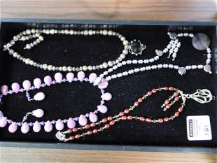 Lot of Natural Stone Necklaces
