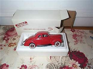 Danbury Mint 1940 Ford Deluxe Coupe; 1:24 scale, wi