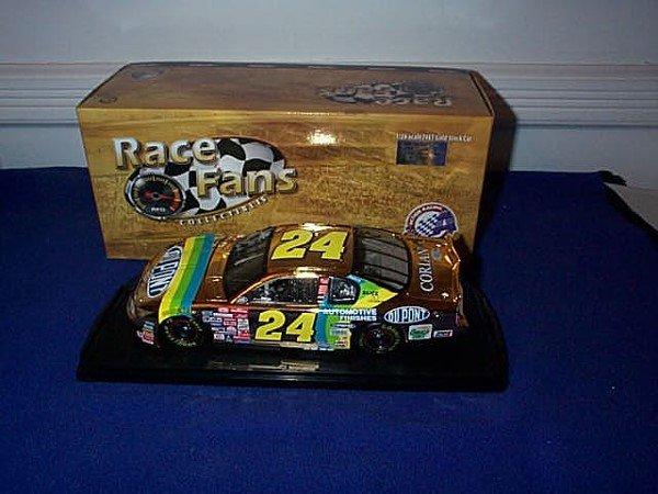 250: Action Race Fans Collectibles 24KT Gold Stock Car