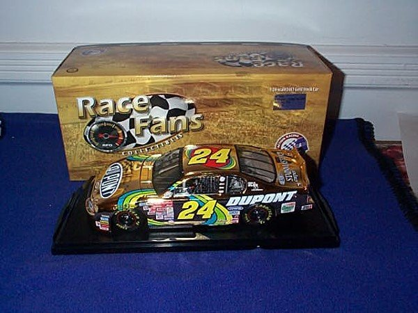 252: Action Race Fans Collectibles 24KT Gold Stock Car