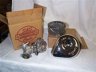 Harley-Davidson S&S chrome air cleaner and carbure