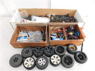 Large Lot of RC Racecar Parts