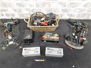 Group Lot of RC Parts including Batteries